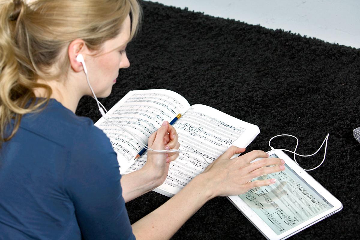 Die Notenbuch-App für klassische Musik: DIE Chor-App als Alternative zu Übungs-CDs zum Chorstimmmen-Üben!