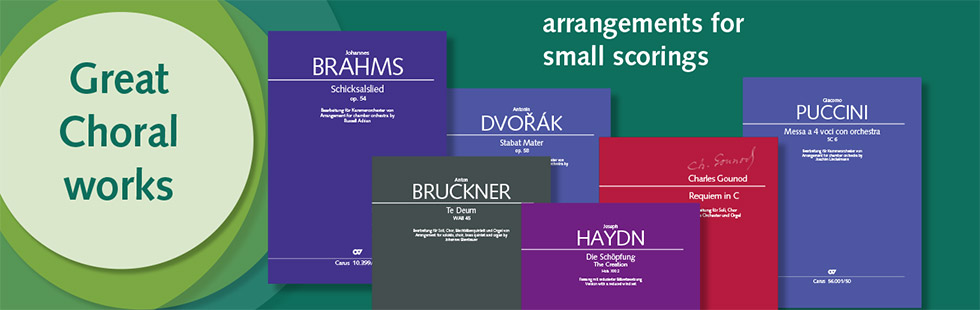 Great choral works in small scorings